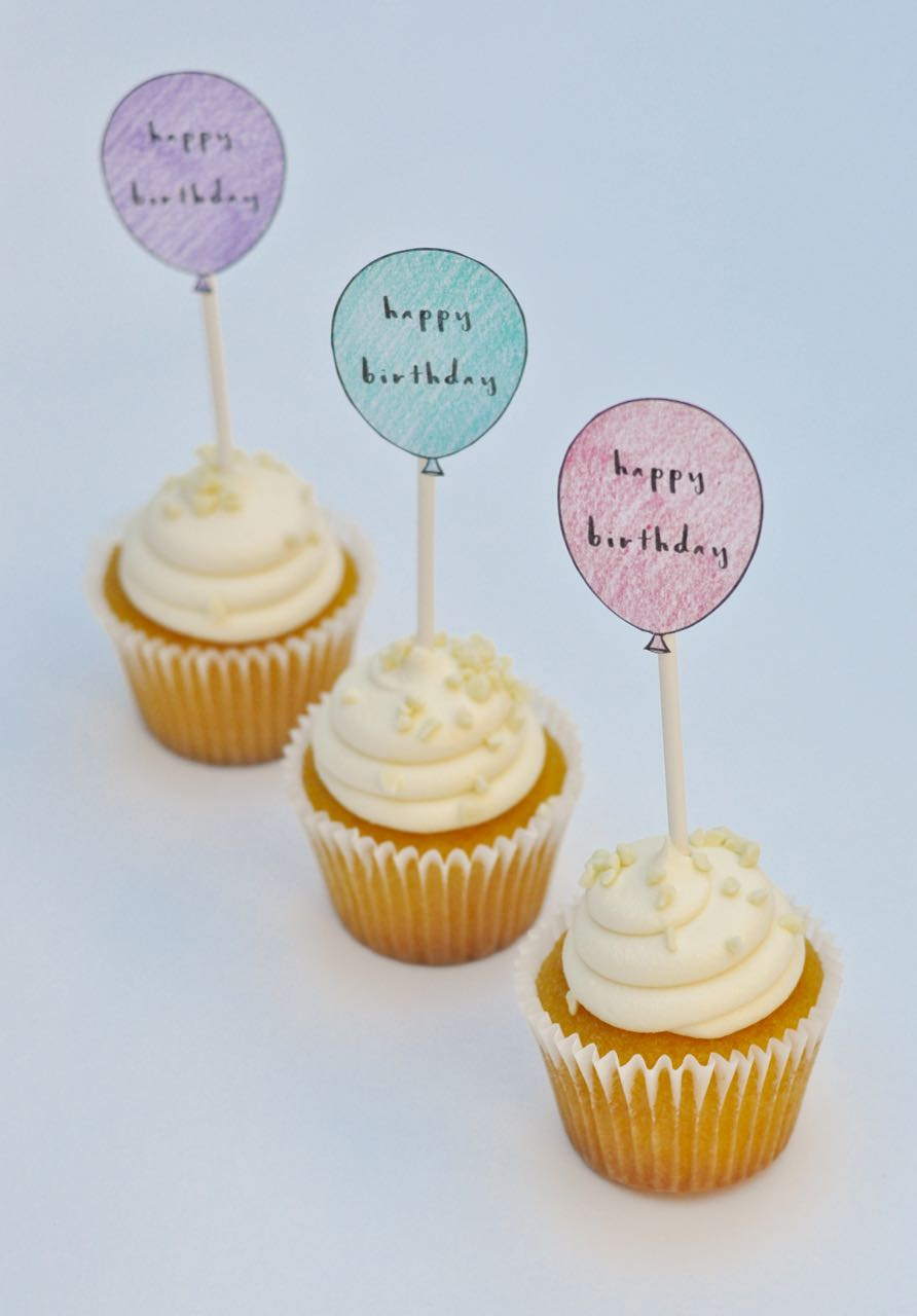 Cake Toppers For Birthday Free Printable Birthday Cupcake Toppers Make Life Lovely