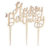 Cake Toppers For Birthday Ginger Ray Wooden Happy Birthday Cake Topper Hobcraft