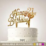 Cake Toppers For Birthday Personalised Birthday Cake Topper Any Age Name 18th 22nd 50th
