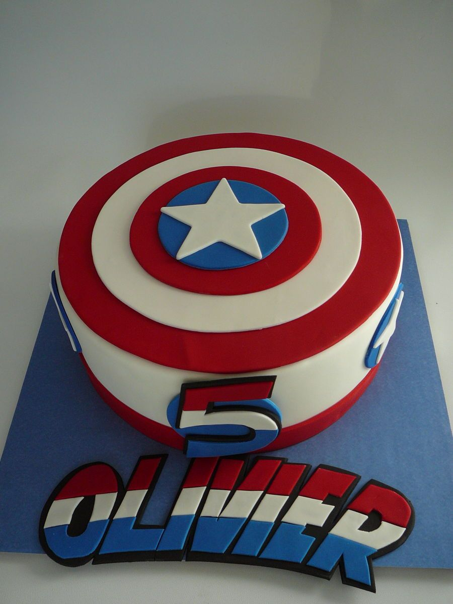 27+ Inspiration Picture of Captain America Birthday Cake