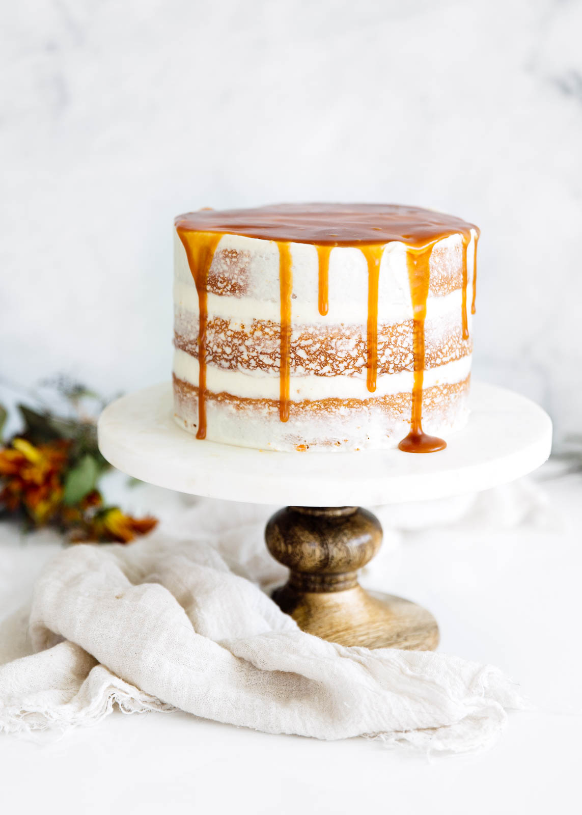 Carrot Cake Birthday Cake Cardamom Spiced Carrot Cake With Ginger Frosting Caramel Drizzle