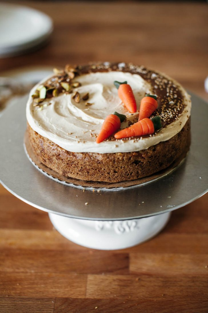 Carrot Cake Birthday Cake Carrot Cake With Hawaij And Tahini Caramel Frosting Molly Yeh
