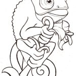Chameleon Coloring Page Inspirational Simple Chameleon Coloring Page Ishag