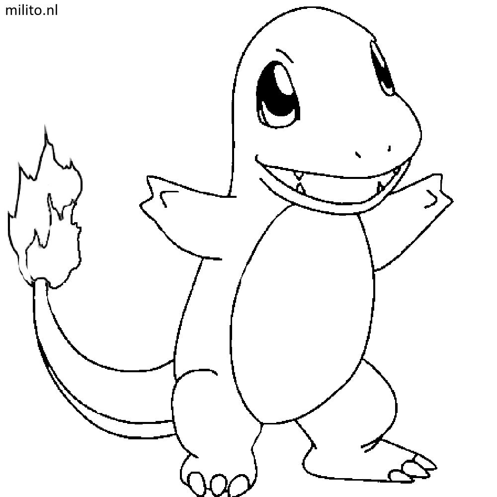 Charmander Coloring Page Charmander Coloring Page Free Printable Pages With Pokemon Wuming