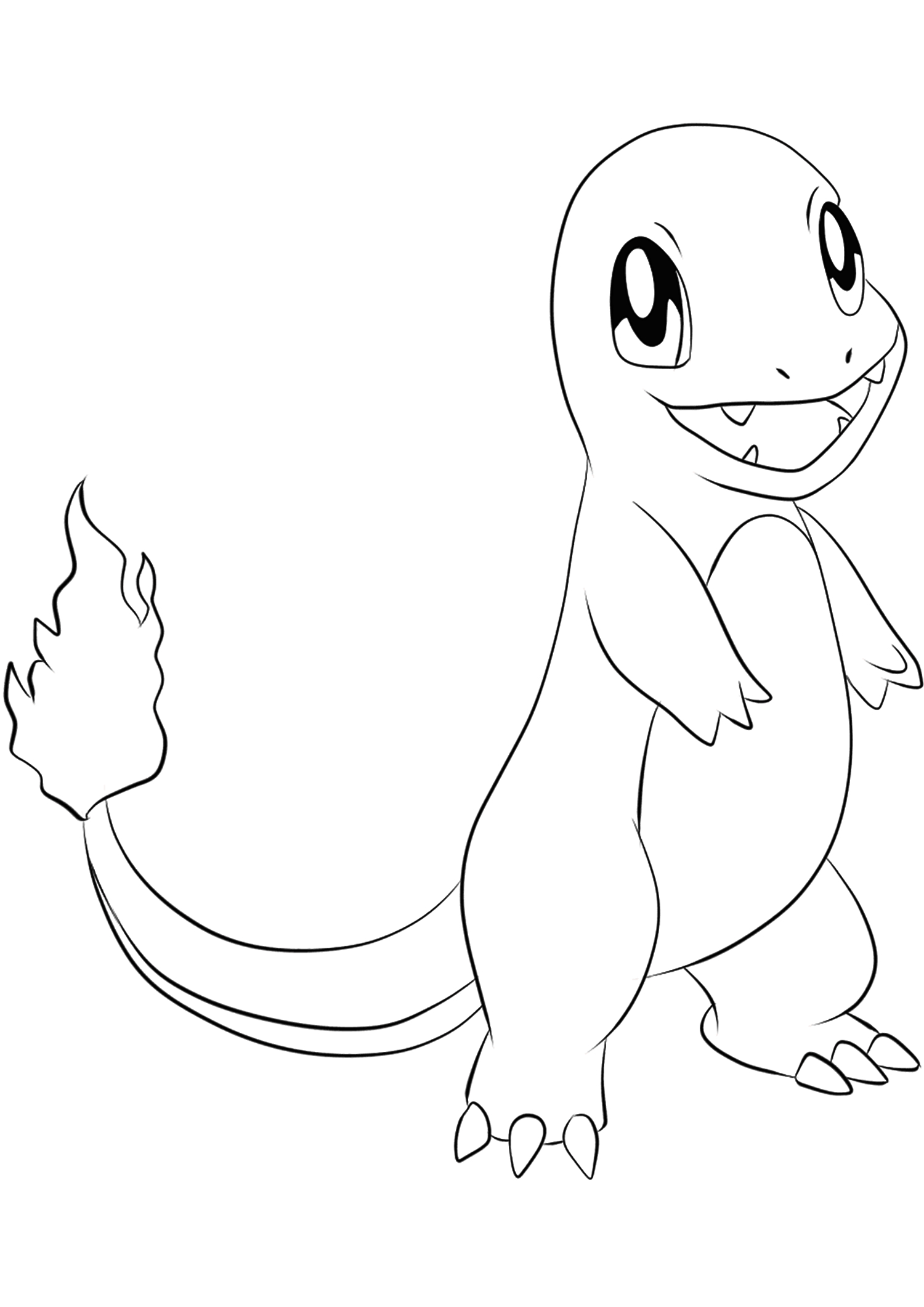 Charmander Coloring Page Charmander No04 Pokemon Generation I All Pokemon Coloring Pages