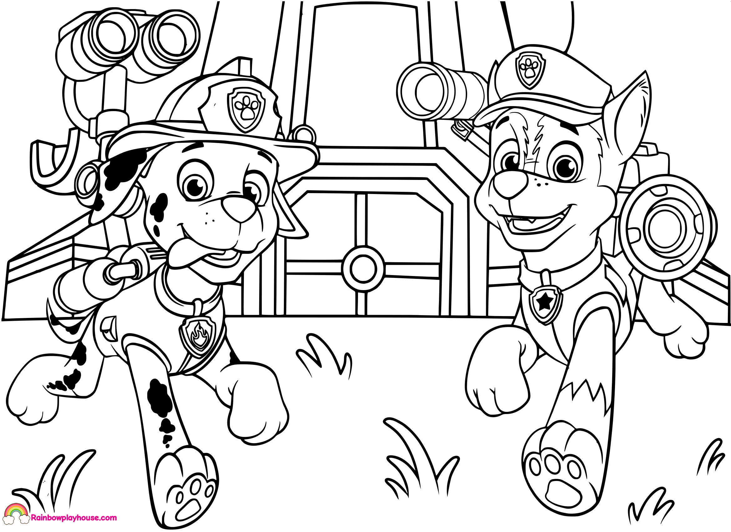 Coloring Pages Paw Patrol Chase : Coloring Pages ...