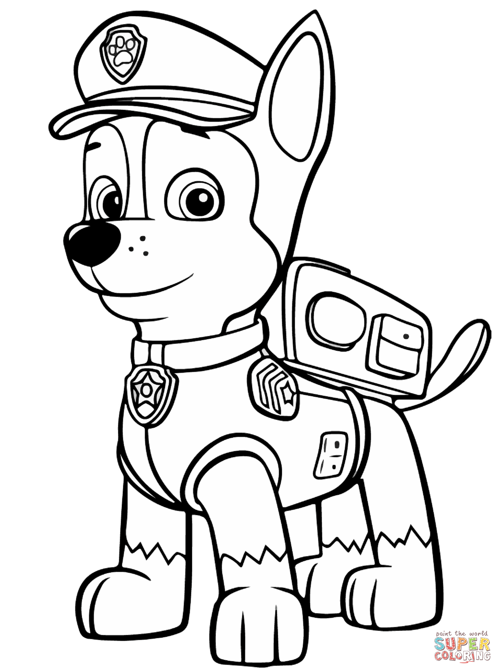 25+ Excellent Picture of Chase Paw Patrol Coloring Page