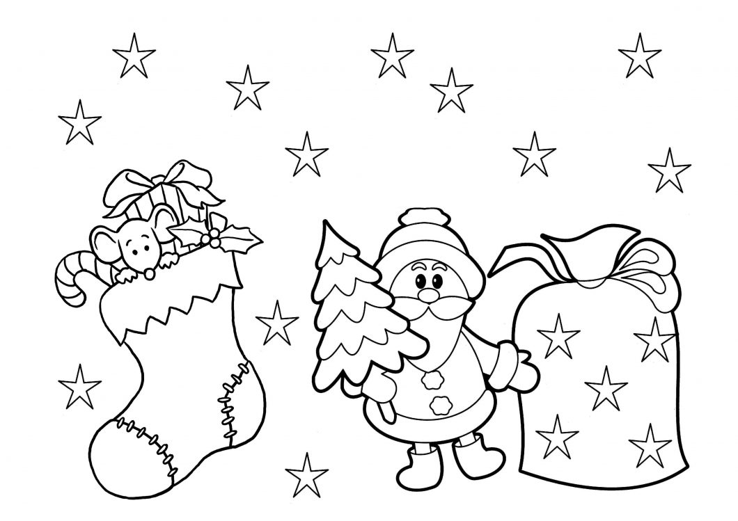 Christmas Coloring Pages To Print Free Christmas Coloring Pages Printable With Book Also Free For Kids