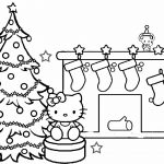 Christmas Coloring Pages To Print Free Hello Kitty Christmas Coloring Pages Inside Christmas Coloring Pages