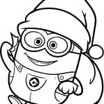 Christmas Coloring Pages To Print Free Minion Christmas Coloring Pages Vietti