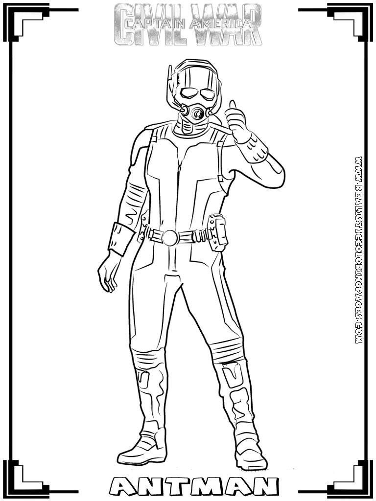Civil War Coloring Pages Captain Americacivil War Printable Coloring Pages Realistic