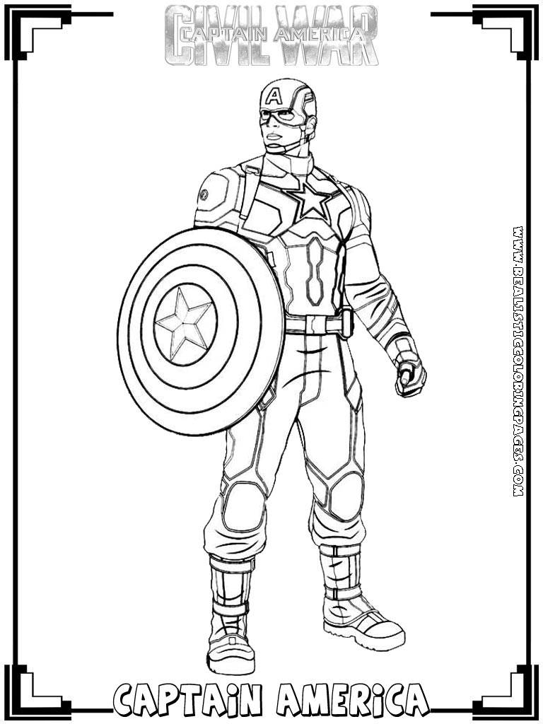 Civil War Coloring Pages Coloring Pages Captain America Civil War Coloring Pages Page