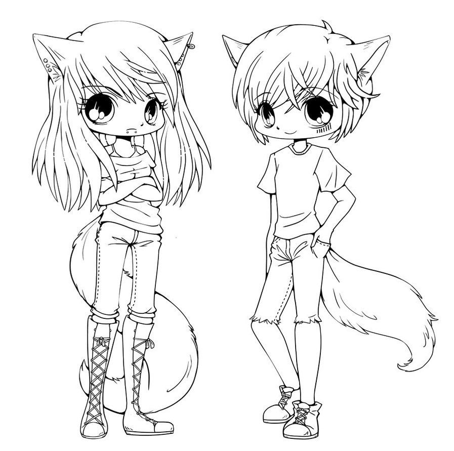 Coloring Pages Anime Anime Fox Girl Coloring Pages 9 Page For Kids Disney