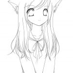 Coloring Pages Anime Coloring Pages Printable Anime Coloring Pages Chibi Girl Zuckett