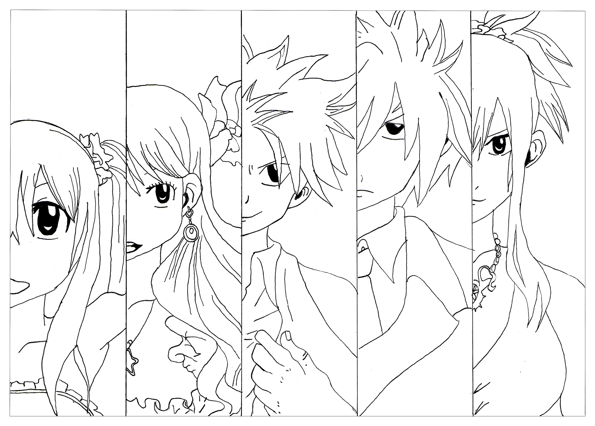 Coloring Pages Anime Manga Anime Coloring Pages For Adults