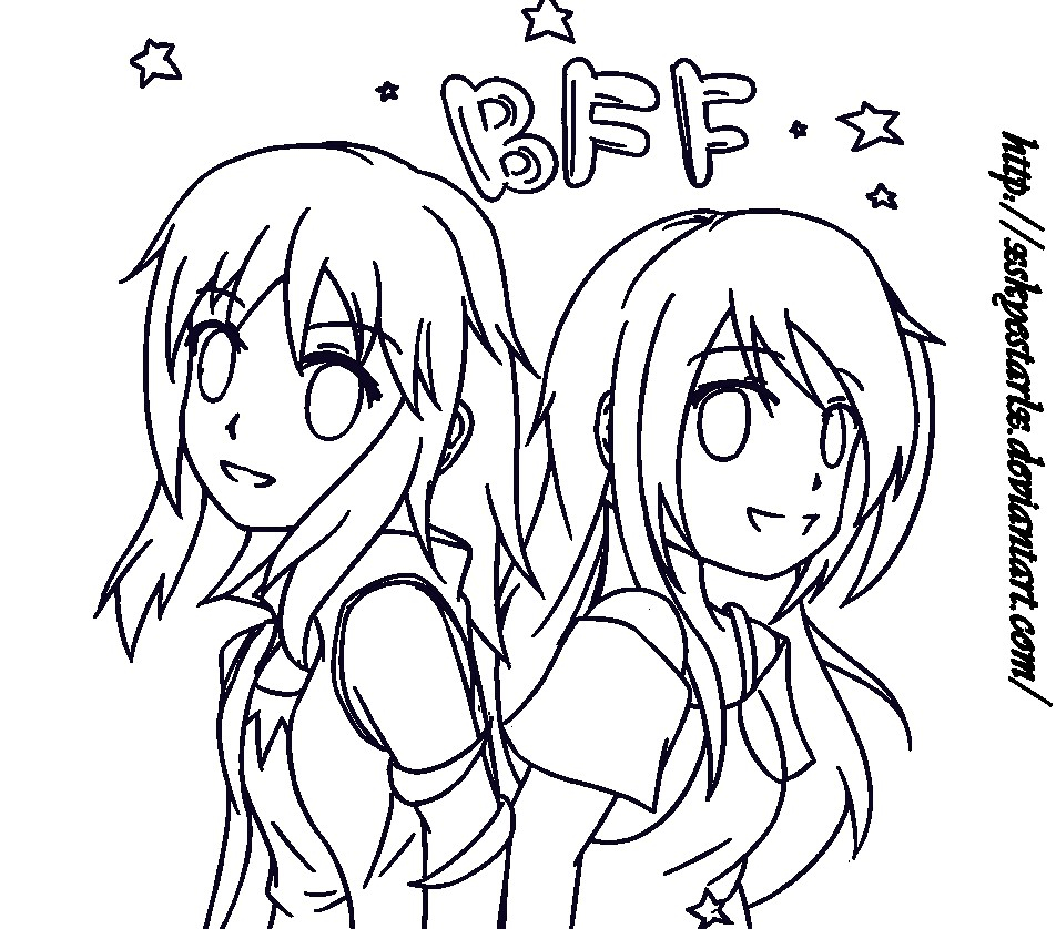 Coloring Pages Anime Request Naomi 999 Bff Xskyestarlx D5zq6yb Anime Best Friends