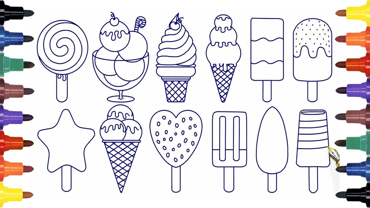 Coloring pages for children how to draw ice cream coloring pages kids with page wpvote