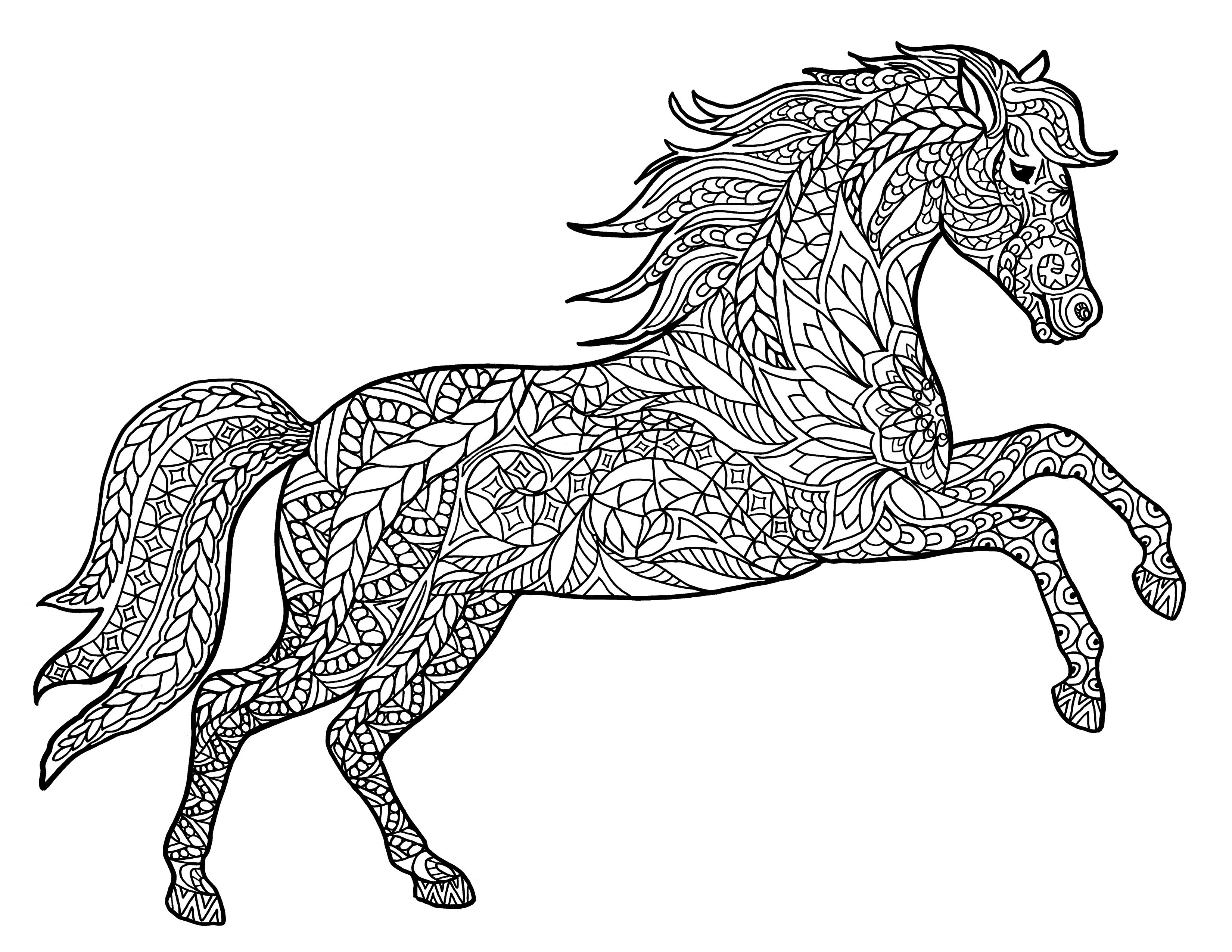 Coloring Pages Horses Coloring Pages Horses Luxury Horse For Adults New Real Copy 3300