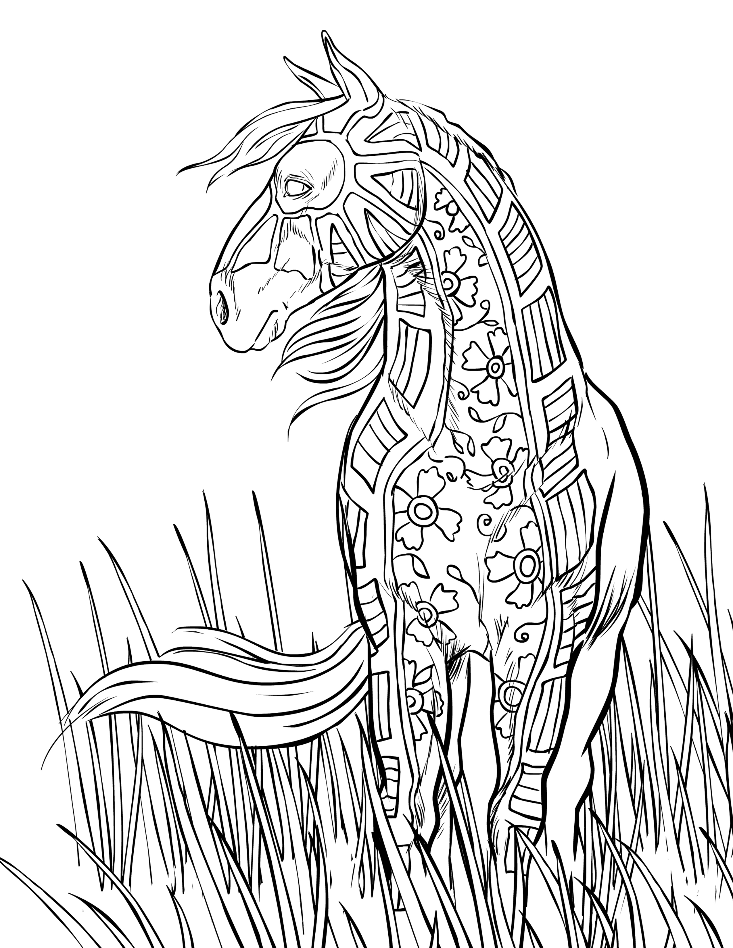 Coloring Pages Horses Free Horse Coloring Pages Selah Works Adult Coloring Books
