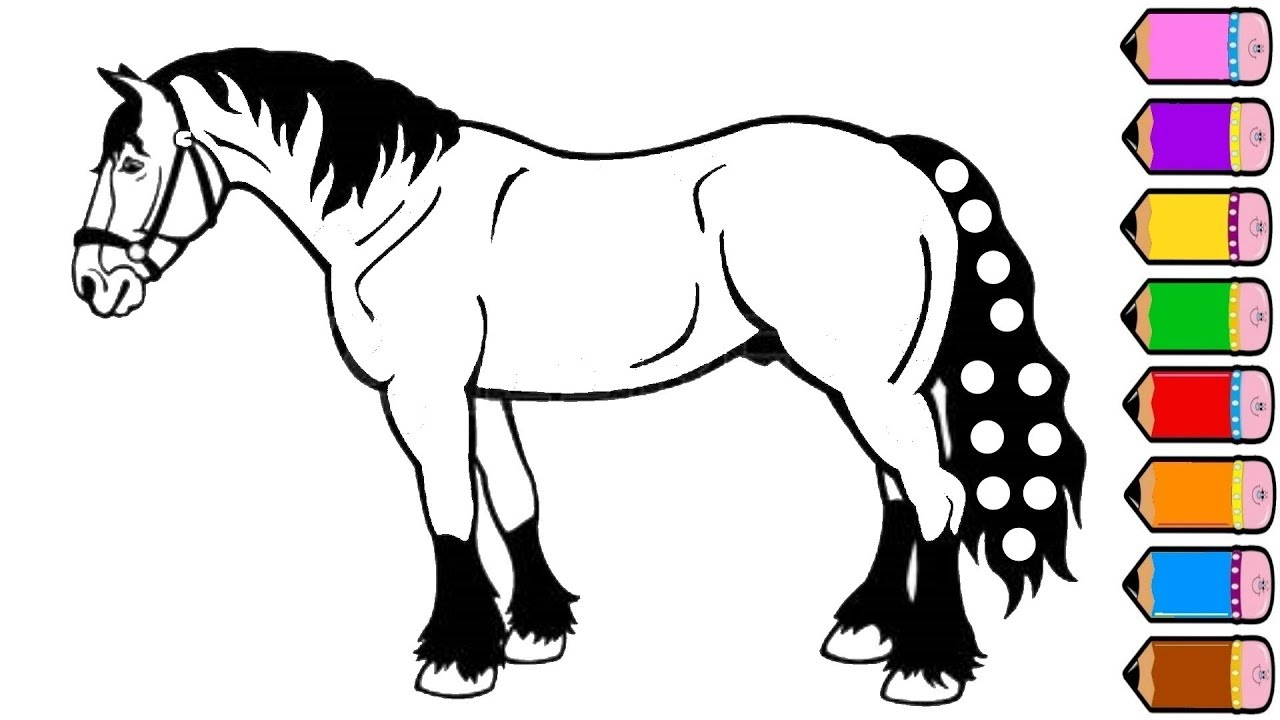 Coloring Pages Horses Horse Coloring Pages Drawing For Kids Youtube Videos For