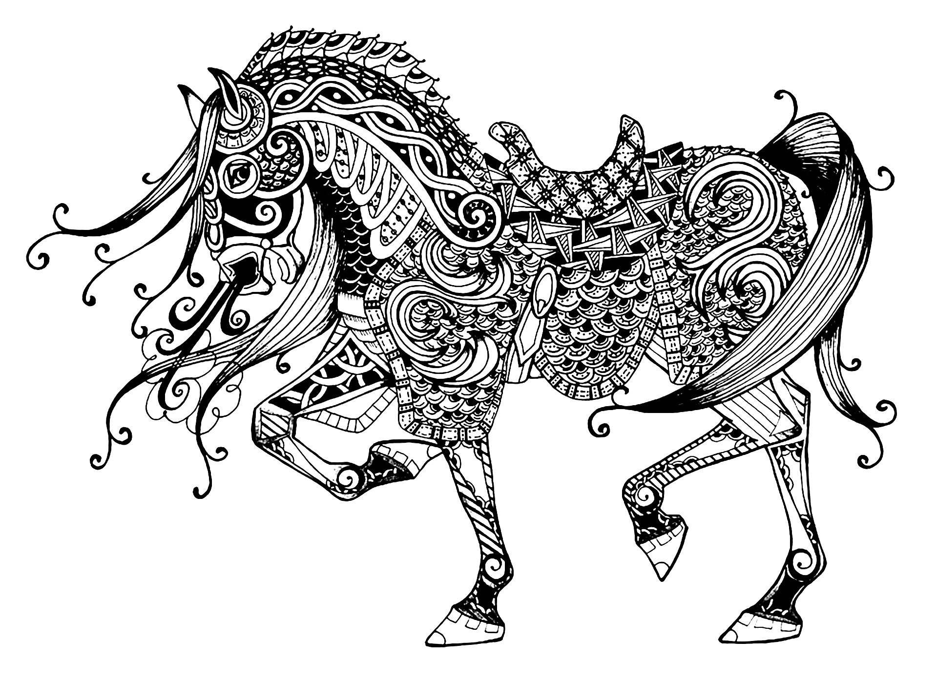 Coloring Pages Horses Horses Free To Color For Kids Horses Kids Coloring Pages