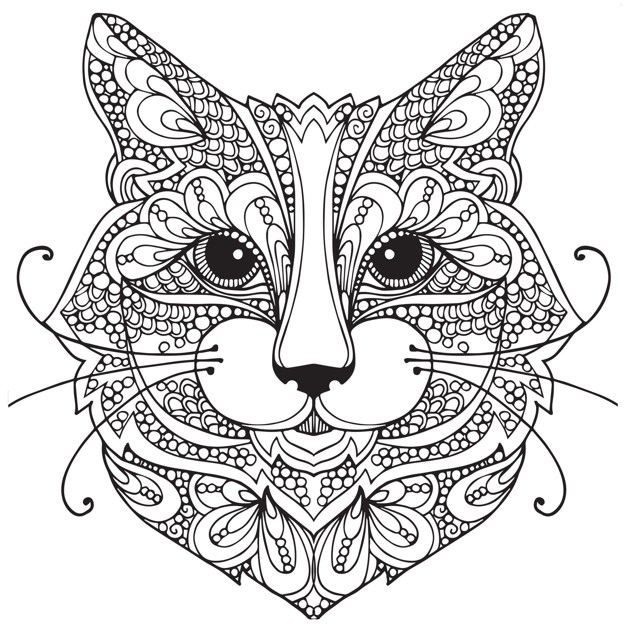 Coloring Pages Of Cats Adult Coloring Pages Cat 1 Coloring Pages Pinterest Ruva