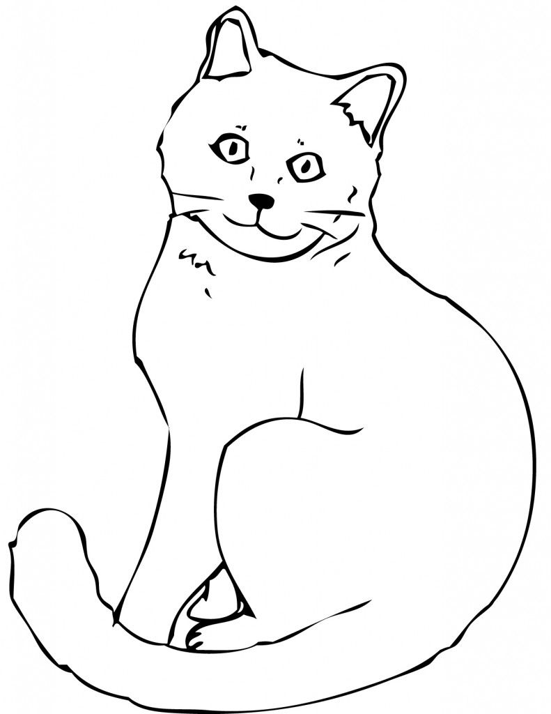 Coloring Pages Of Cats Black Cat Coloring Pages Wpvote