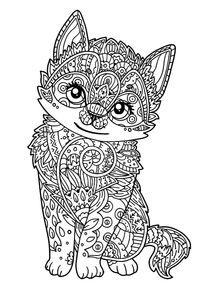 Coloring Pages Of Cats Cats For Kids Cats Kids Coloring Pages
