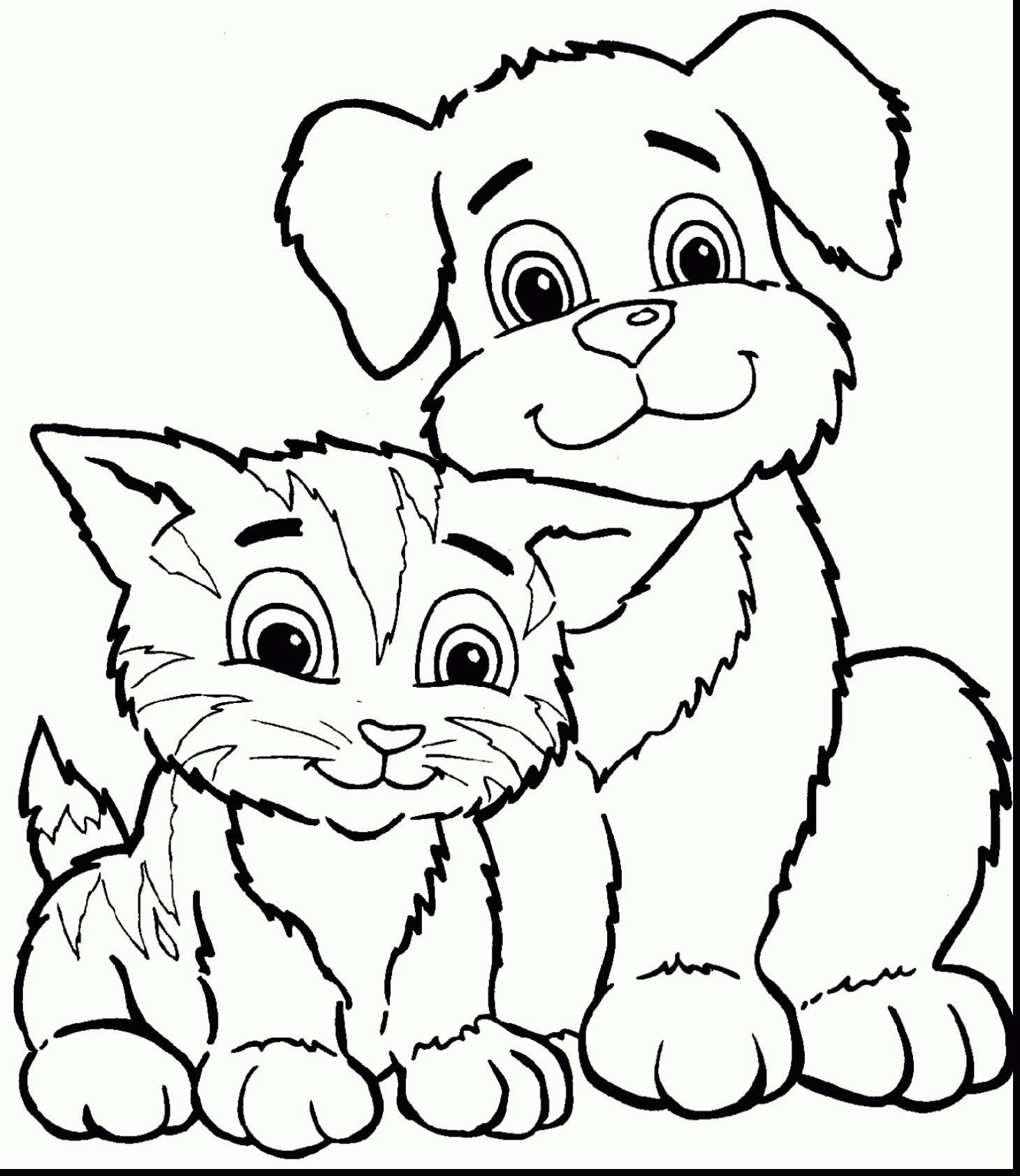 Coloring Pages Of Cats Highest Cat And Dog Coloring Pages Cats Dogs Page 13 Free Photosheep