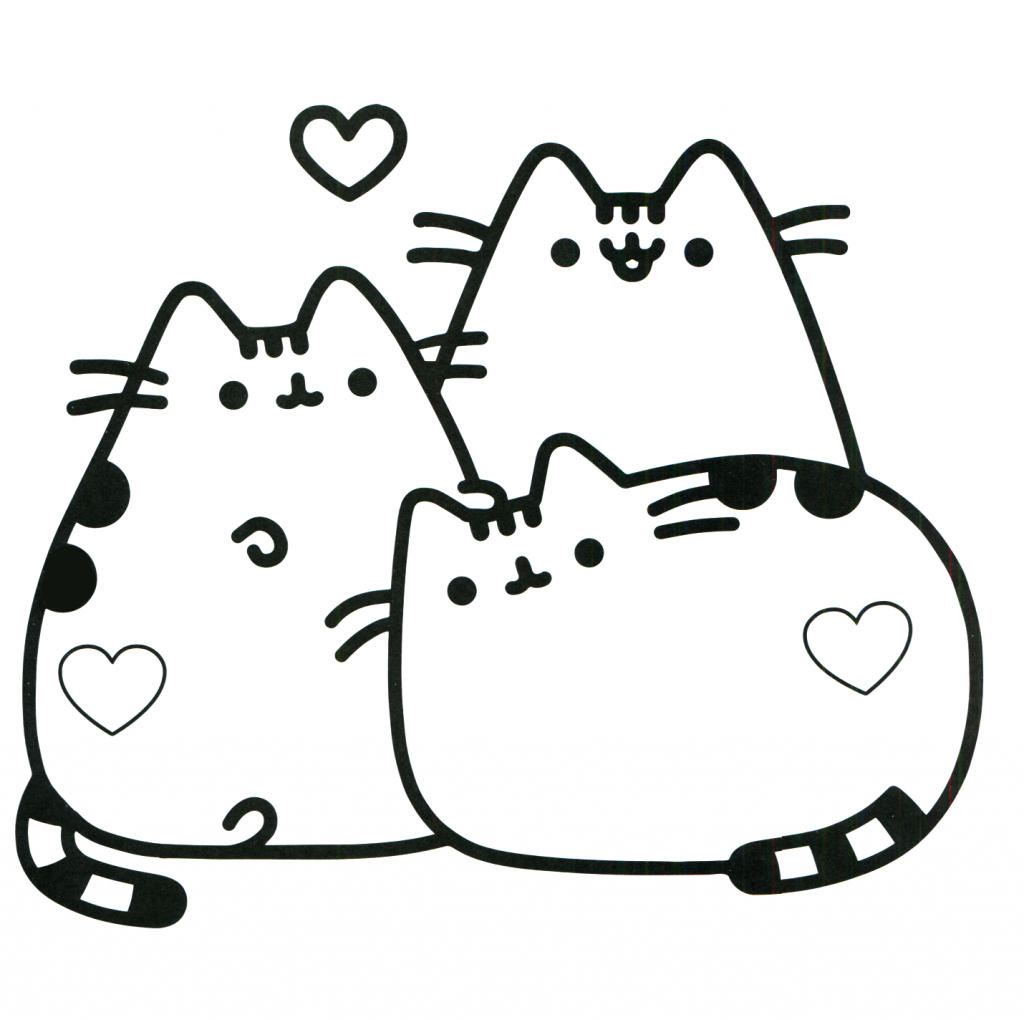 Coloring Pages Of Cats Hurry Cat Coloring Pages Pusheen Best For Kids