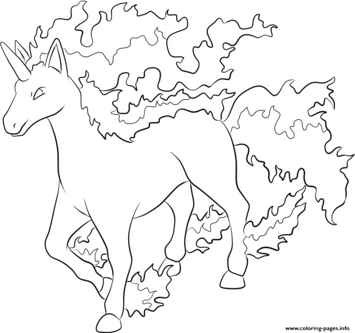 Coloring Pages Pokemon 078 Rapidash Pokemon Coloring Pages Printable