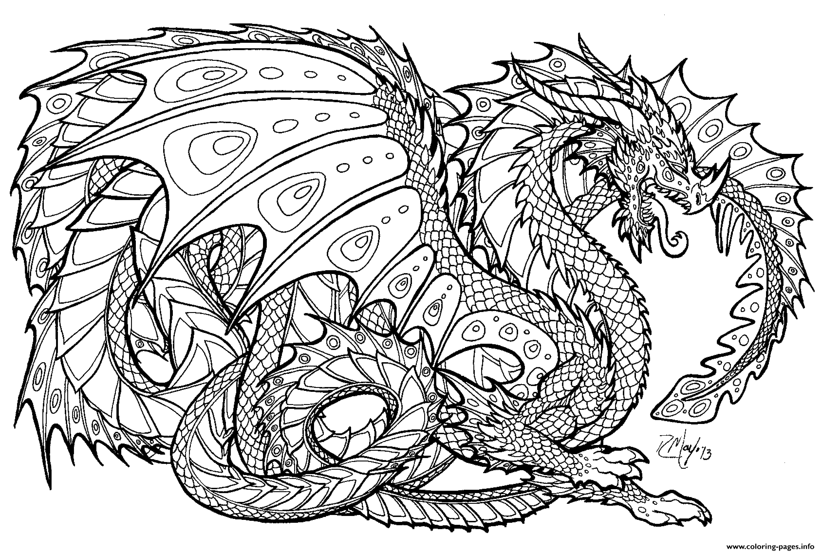 Coloring Pages To Print Chinese Dragon Coloring Pages Print Realistic Adult 16881136
