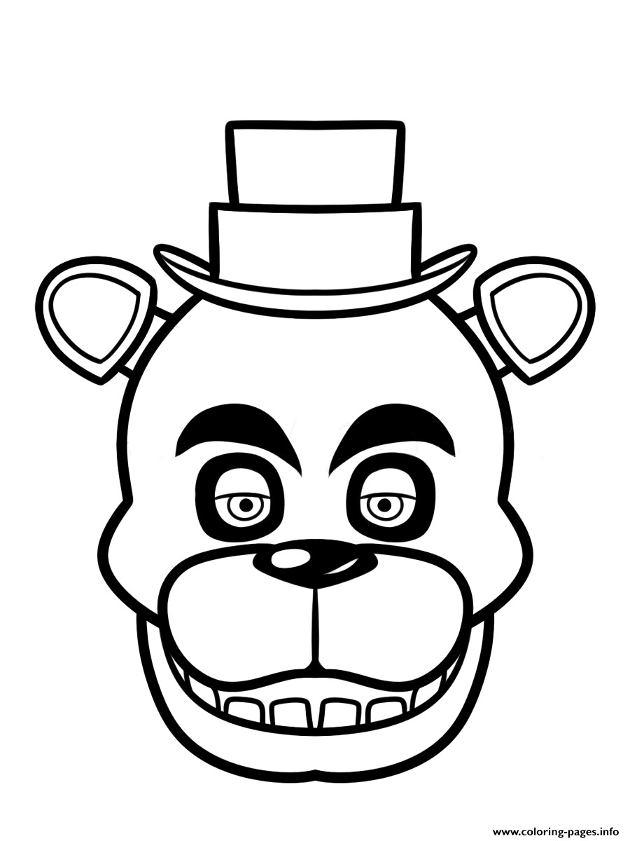 Coloring Pages To Print Exclusive Freddy Fazbear Coloring Page Print Fnaf Five Nights At