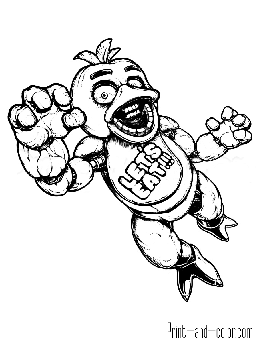 Coloring Pages To Print Five Nights At Freddys Coloring Pages Print And Color