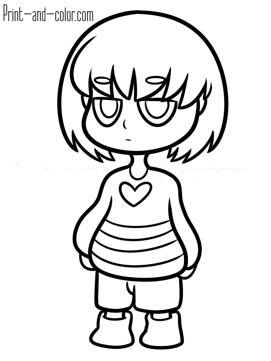 Coloring Pages To Print Ingenious Ideas Sans Undertale Coloring Pages For Kids To Print