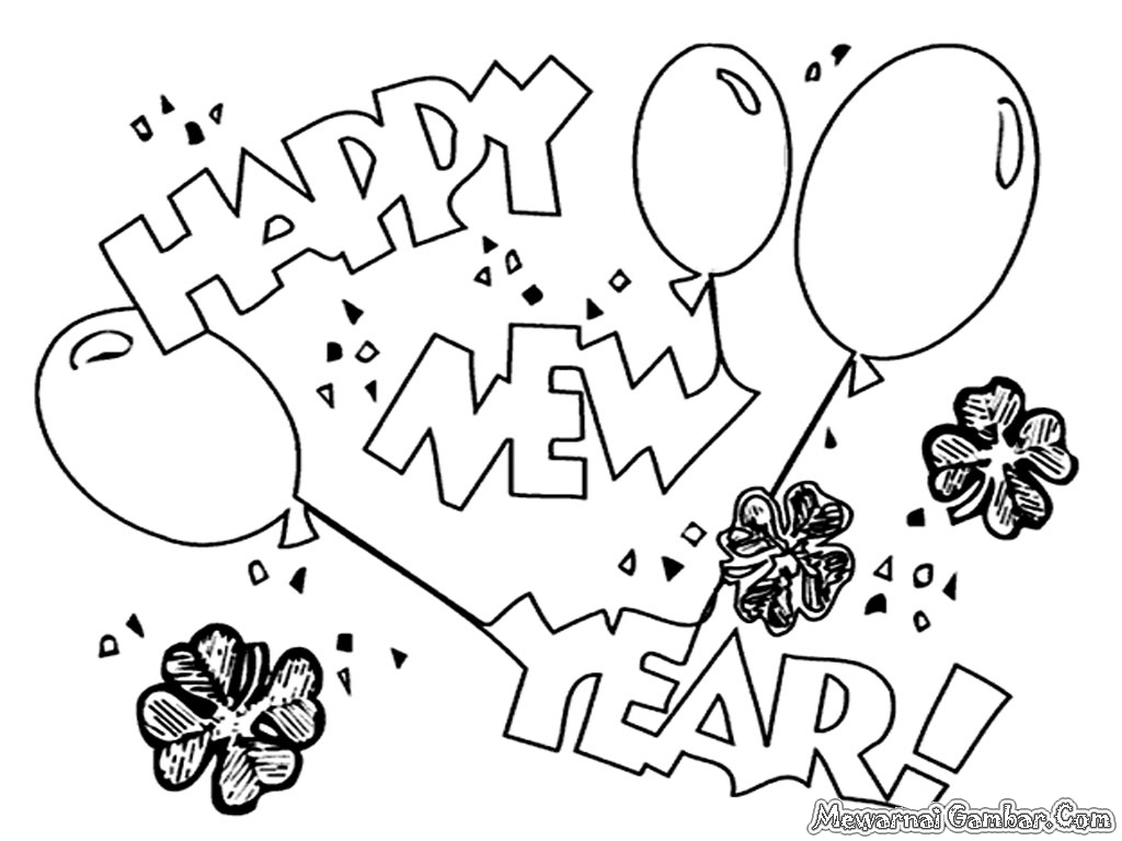 Coloring Pages To Print New Years Eve Coloring Pages Happy Year To Download And Print For