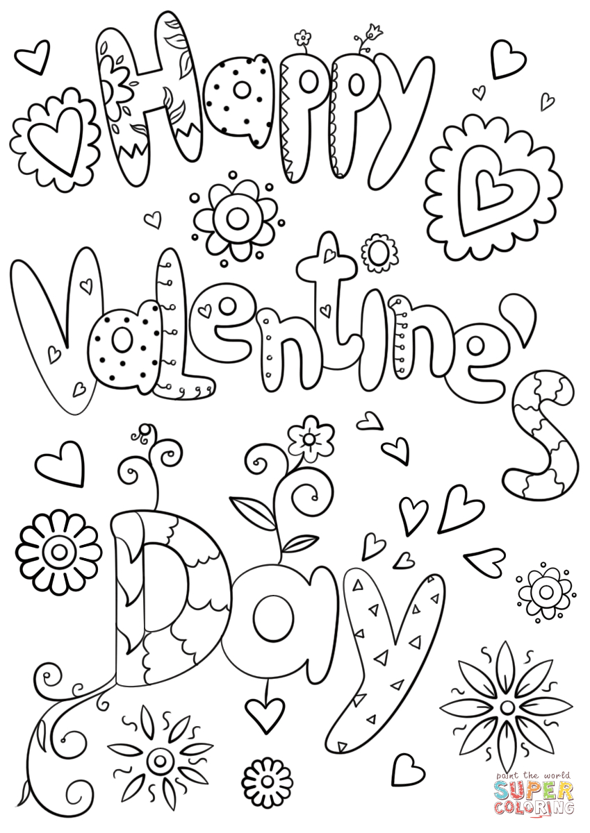 Best Photo of Coloring Pages Valentines Day