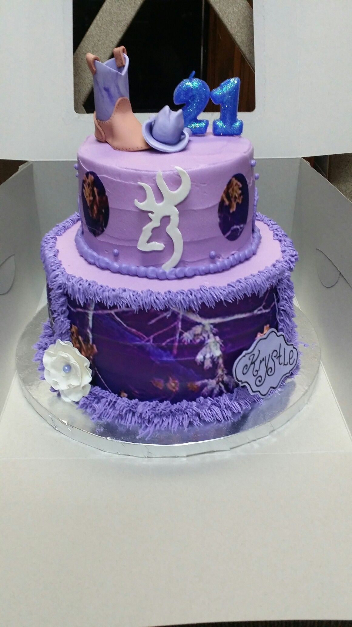 Country Birthday Cakes Purple Girl Camo Cake Girls