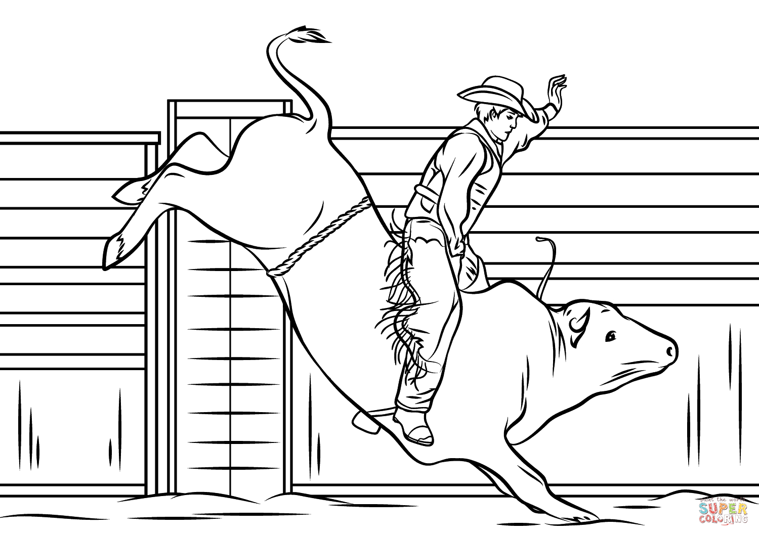 25+ Amazing Picture of Cowboy Coloring Pages