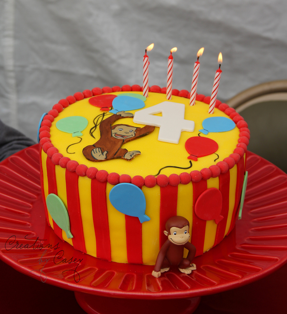 Curious George Birthday Cakes Curious George Birthday Cake Believe It Or Not We Never U Flickr