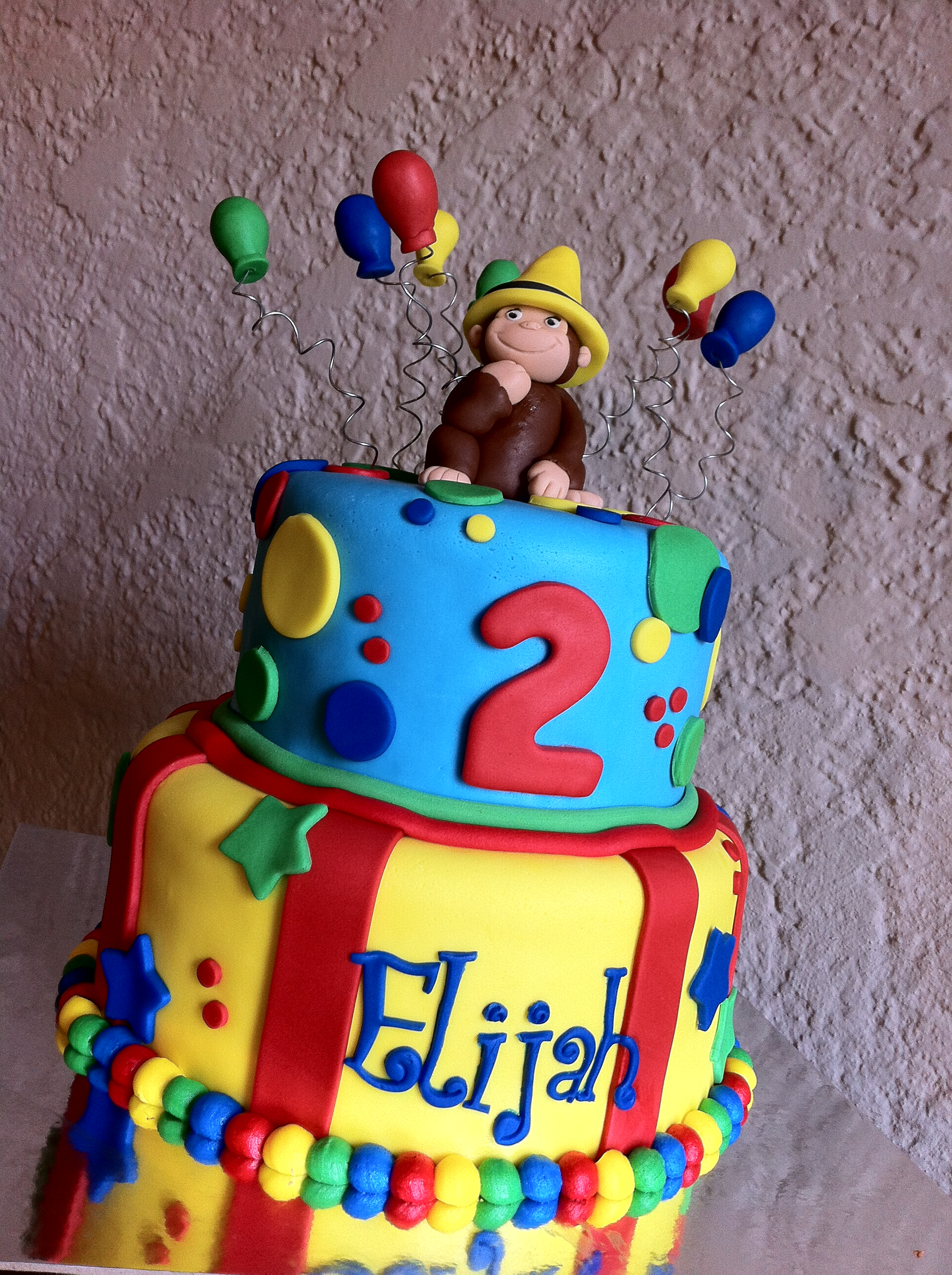 Curious George Birthday Cakes Curious George Birthday Cake With Balloons And The Yellow Hat