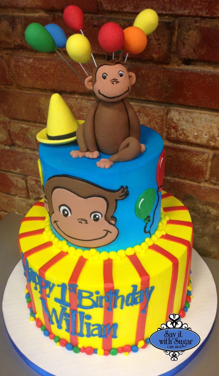 Curious George Birthday Cakes Pin Taylor Stanford Fortner On Party Ideas Pinterest Curious