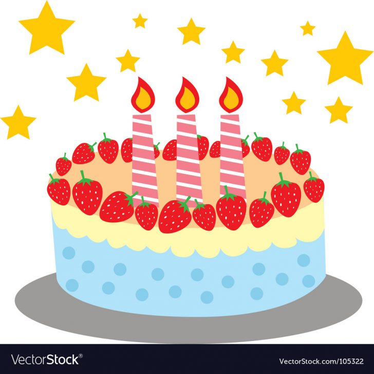 Cute Birthday Cakes Cute And Sweet Birthday Cake Royalty Free Vector Image