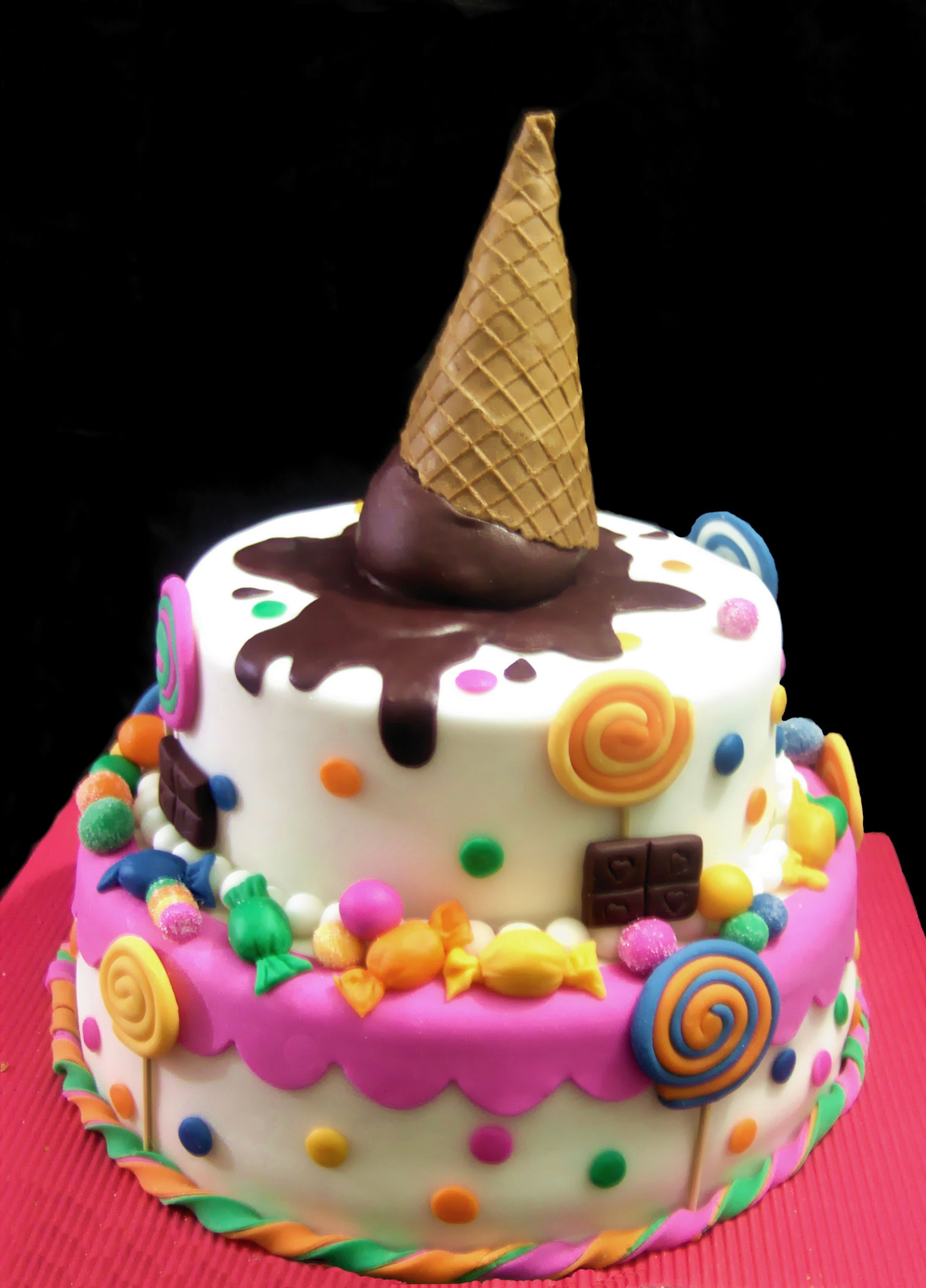 Cute Birthday Cakes Super Cute For A Little Girls Cake Cakes Cake Birthday Cake