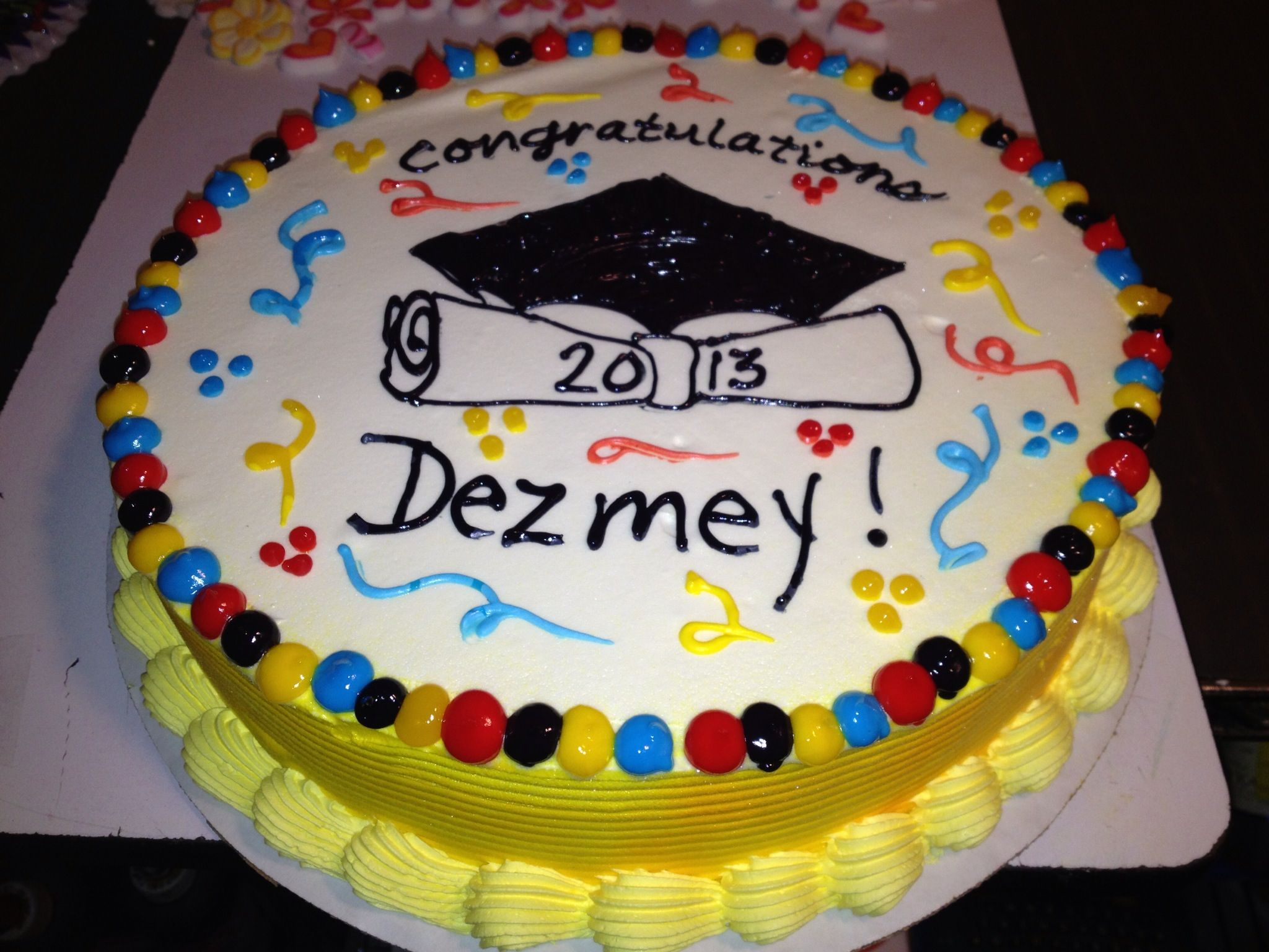 Dairy Queen Birthday Cakes Dq Cakesdairy Queen Graduation Only No Hat Since It Is For 8th