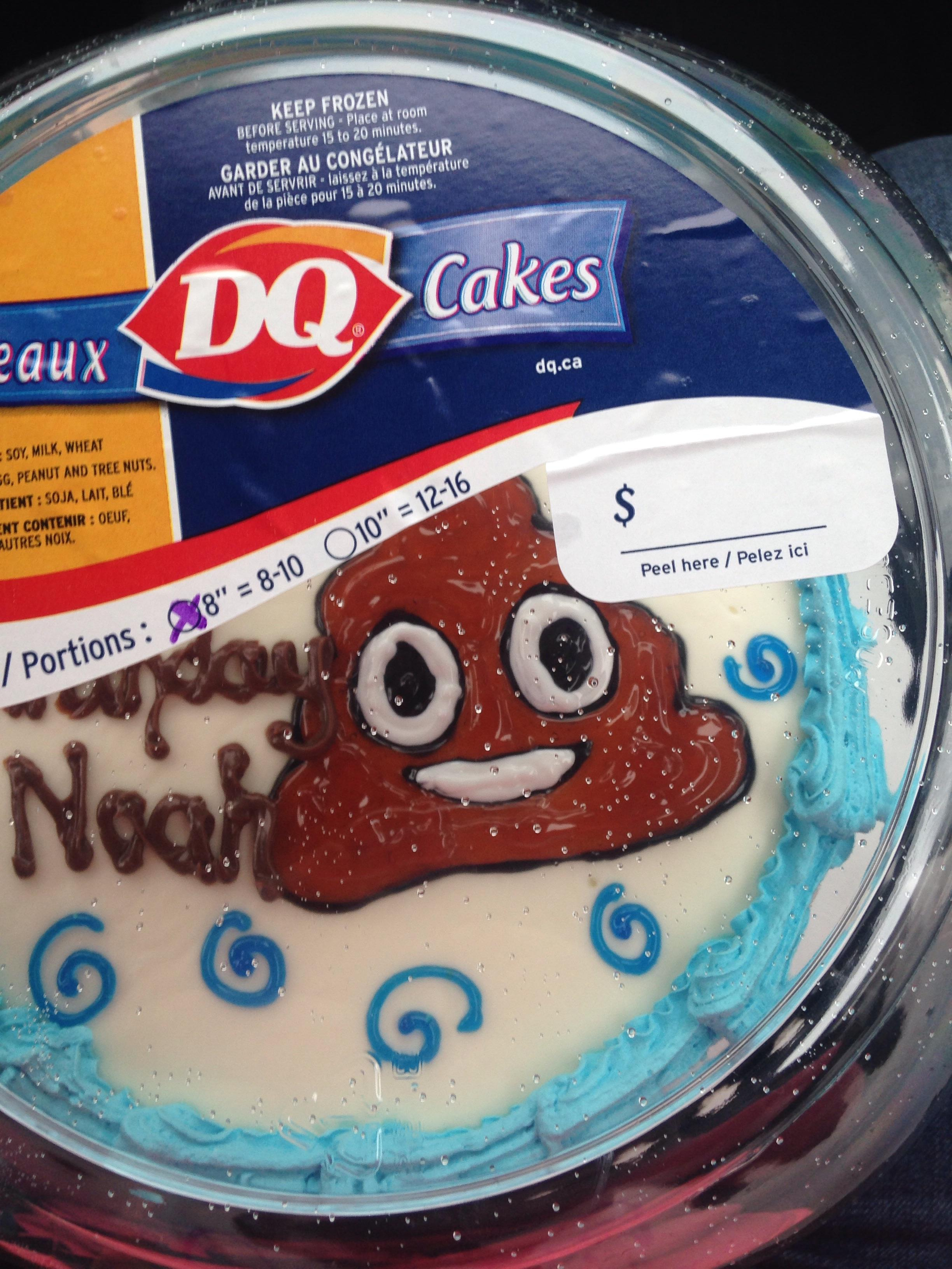Dairy Queen Birthday Cakes We Got Dairy Queen To Put The Poop Emoji On His Birthday Cake Imgur
