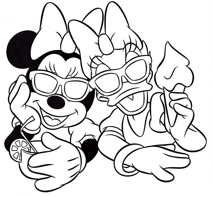 Daisy Duck Coloring Pages Walt Disney Characters Images Walt Disney Coloring Pages Minnie