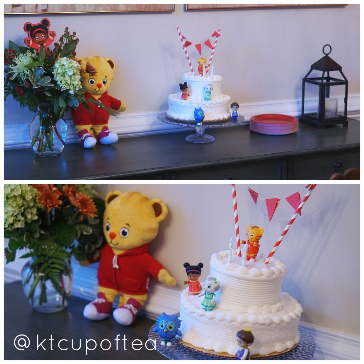 Daniel Tiger Birthday Cake High Here Is Ba Cake For Our I Had Publix Make Cake Andcupcakes