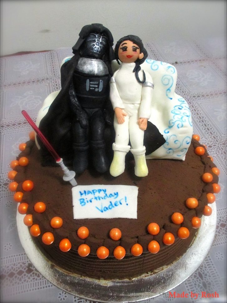 Darth Vader Birthday Cake Darth Vader And Pademe Birthday Cake Cakecentral