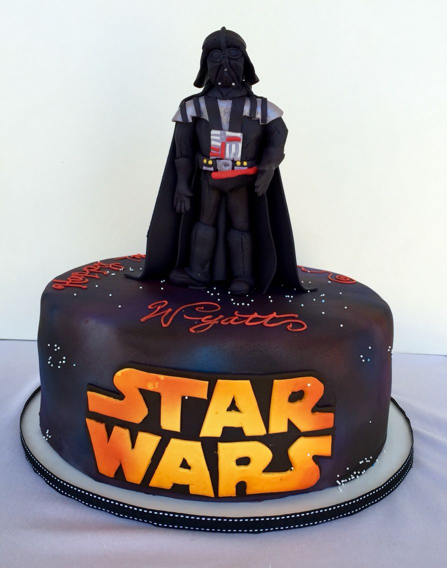 Darth Vader Birthday Cake Darth Vader Sugar Topper Classic Chocolate And Vanilla Cake My
